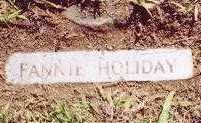 HOLIDAY, FANNIE - Montgomery County, Arkansas | FANNIE HOLIDAY - Arkansas Gravestone Photos