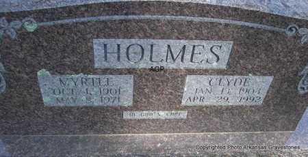 HOLMES, CLYDE - Montgomery County, Arkansas | CLYDE HOLMES - Arkansas Gravestone Photos