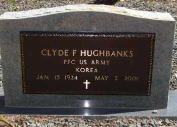 HUGHBANKS (VETERAN KOR), CLYDE F - Montgomery County, Arkansas | CLYDE F HUGHBANKS (VETERAN KOR) - Arkansas Gravestone Photos
