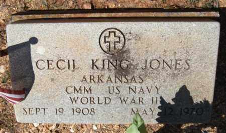 JONES (VETERAN WWII), CECIL KING - Montgomery County, Arkansas | CECIL KING JONES (VETERAN WWII) - Arkansas Gravestone Photos