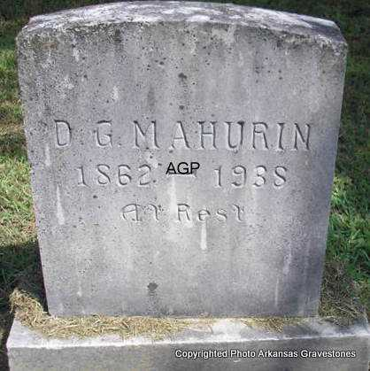 MAHURIN, D G - Montgomery County, Arkansas | D G MAHURIN - Arkansas Gravestone Photos