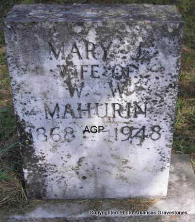 MAHURIN, MARY - Montgomery County, Arkansas | MARY MAHURIN - Arkansas Gravestone Photos