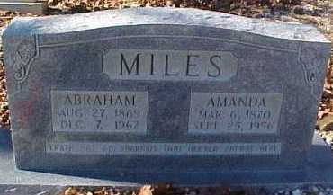 MILES, ABRAHAM LINCOLN - Montgomery County, Arkansas   ABRAHAM LINCOLN MILES - Arkansas Gravestone Photos