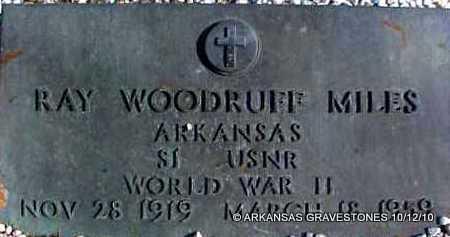MILES  (VETERAN WWII), RAY WOODRUFF - Montgomery County, Arkansas | RAY WOODRUFF MILES  (VETERAN WWII) - Arkansas Gravestone Photos