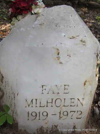 MILHOLEN, FAYE S - Montgomery County, Arkansas | FAYE S MILHOLEN - Arkansas Gravestone Photos