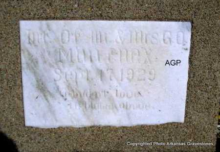 MULLINEX, INFANT - Montgomery County, Arkansas | INFANT MULLINEX - Arkansas Gravestone Photos