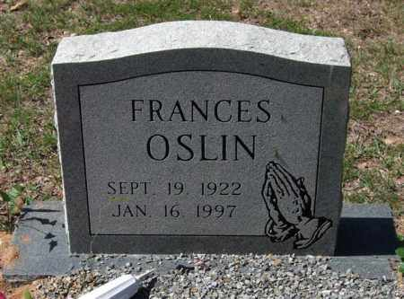 OSLIN, FRANCES - Montgomery County, Arkansas | FRANCES OSLIN - Arkansas Gravestone Photos