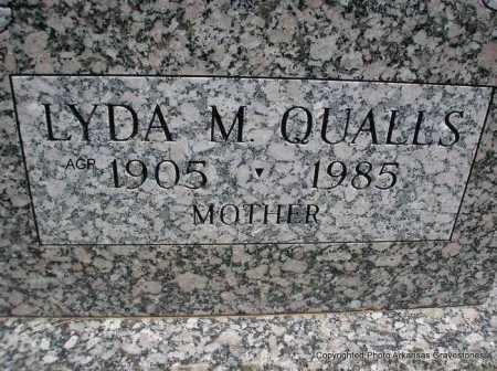 QUALLS, LYDA M. - Montgomery County, Arkansas | LYDA M. QUALLS - Arkansas Gravestone Photos
