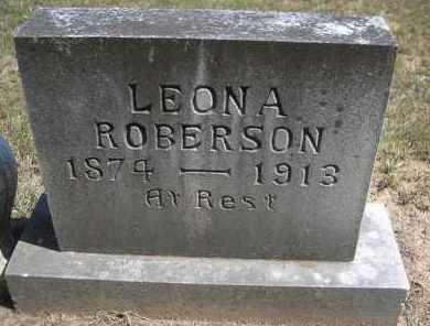 ROBERSON, LEONA - Montgomery County, Arkansas | LEONA ROBERSON - Arkansas Gravestone Photos
