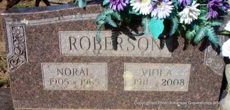 ROBERSON, NORAL - Montgomery County, Arkansas | NORAL ROBERSON - Arkansas Gravestone Photos