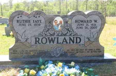 ROWLAND, HOWARD WASHINGTON - Montgomery County, Arkansas | HOWARD WASHINGTON ROWLAND - Arkansas Gravestone Photos