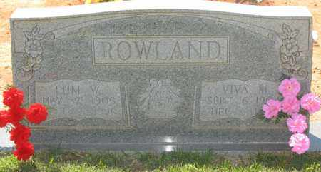 ROWLAND, LUM WASHINGTON - Montgomery County, Arkansas | LUM WASHINGTON ROWLAND - Arkansas Gravestone Photos