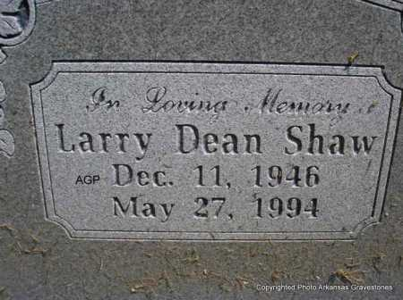 SHAW, LARRY DEAN - Montgomery County, Arkansas | LARRY DEAN SHAW - Arkansas Gravestone Photos