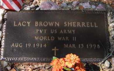 SHERRELL (VETERAN WWII), LACY BROWN - Montgomery County, Arkansas | LACY BROWN SHERRELL (VETERAN WWII) - Arkansas Gravestone Photos