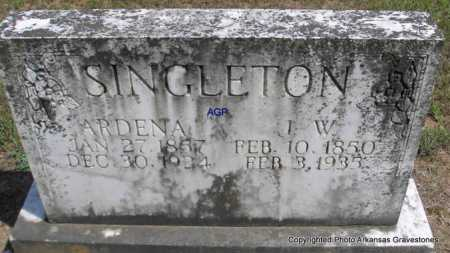 SINGLETON, J  W - Montgomery County, Arkansas | J  W SINGLETON - Arkansas Gravestone Photos