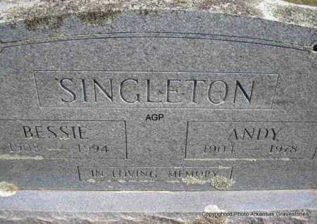 SINGLETON, BESSIE - Montgomery County, Arkansas | BESSIE SINGLETON - Arkansas Gravestone Photos