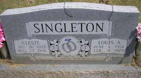 SINGLETON, LOUIS A. - Montgomery County, Arkansas | LOUIS A. SINGLETON - Arkansas Gravestone Photos