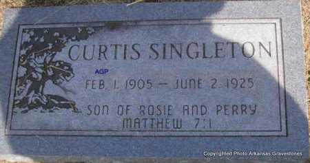 SINGLETON, CURTIS - Montgomery County, Arkansas | CURTIS SINGLETON - Arkansas Gravestone Photos