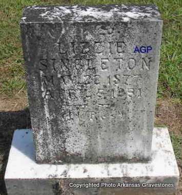 SINGLETON, LIZZIE - Montgomery County, Arkansas | LIZZIE SINGLETON - Arkansas Gravestone Photos
