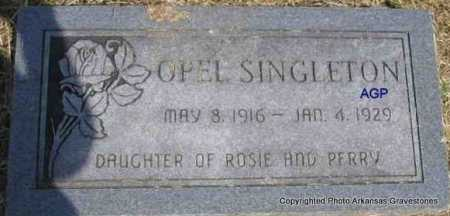 SINGLETON, OPEL - Montgomery County, Arkansas | OPEL SINGLETON - Arkansas Gravestone Photos