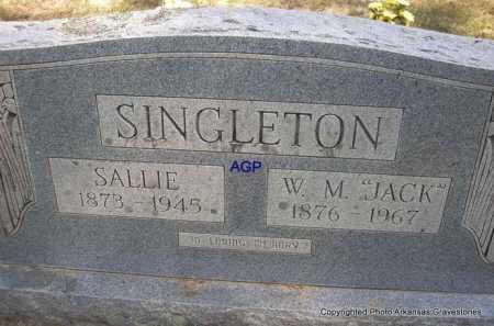 "SINGLETON, W  M  ""JACK"" - Montgomery County, Arkansas | W  M  ""JACK"" SINGLETON - Arkansas Gravestone Photos"