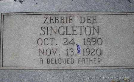 SINGLETON, ZEBBIE DEE - Montgomery County, Arkansas | ZEBBIE DEE SINGLETON - Arkansas Gravestone Photos