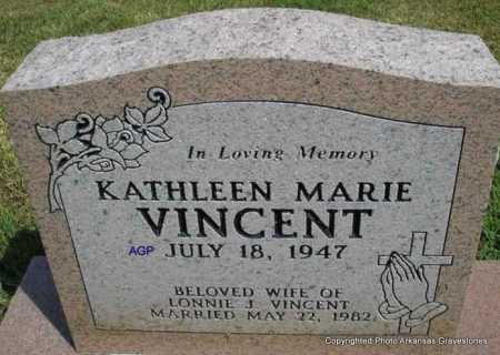 VINCENT, KATHLEEN MARIE - Montgomery County, Arkansas | KATHLEEN MARIE VINCENT - Arkansas Gravestone Photos