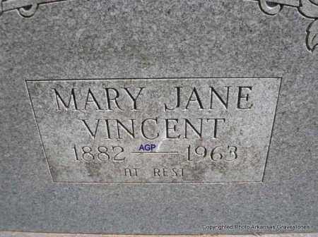 VINCENT, MARY JANE - Montgomery County, Arkansas | MARY JANE VINCENT - Arkansas Gravestone Photos