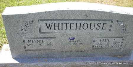 WHITEHOUSE, PAUL E. - Montgomery County, Arkansas | PAUL E. WHITEHOUSE - Arkansas Gravestone Photos