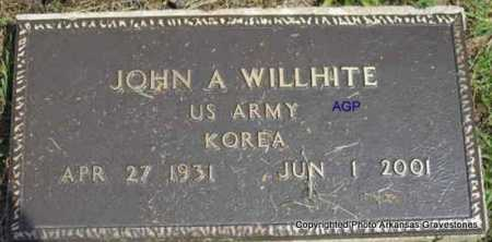 WILLHITE  (VETERAN KOR), JOHN A - Montgomery County, Arkansas | JOHN A WILLHITE  (VETERAN KOR) - Arkansas Gravestone Photos