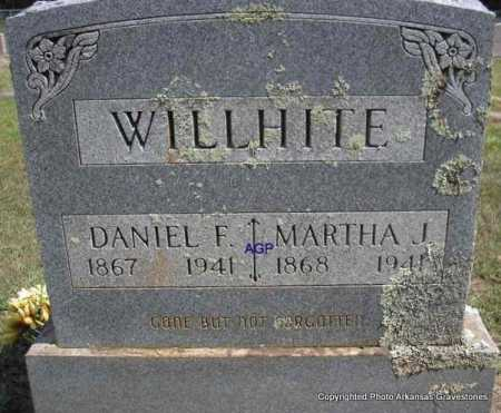 WILLHITE, DANIEL F - Montgomery County, Arkansas | DANIEL F WILLHITE - Arkansas Gravestone Photos