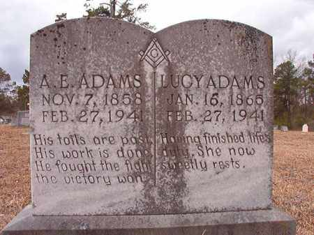 ADAMS, A E - Nevada County, Arkansas | A E ADAMS - Arkansas Gravestone Photos