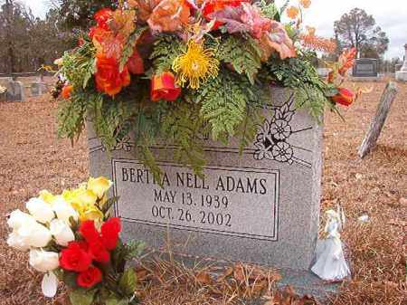 ADAMS, BERTHA NELL - Nevada County, Arkansas | BERTHA NELL ADAMS - Arkansas Gravestone Photos