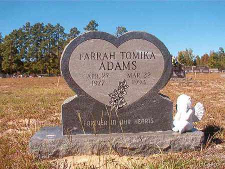 ADAMS, FARRAH TOMIKA - Nevada County, Arkansas | FARRAH TOMIKA ADAMS - Arkansas Gravestone Photos