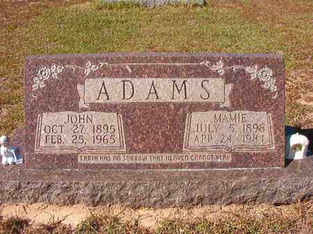 ADAMS, MAMIE - Nevada County, Arkansas | MAMIE ADAMS - Arkansas Gravestone Photos