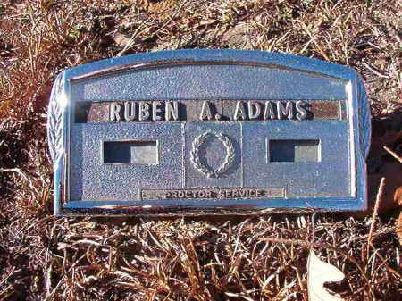 ADAMS, RUBEN A - Nevada County, Arkansas | RUBEN A ADAMS - Arkansas Gravestone Photos