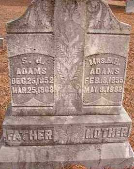 ADAMS, S J - Nevada County, Arkansas | S J ADAMS - Arkansas Gravestone Photos