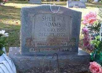 ADAMS, SHEILA J - Nevada County, Arkansas | SHEILA J ADAMS - Arkansas Gravestone Photos