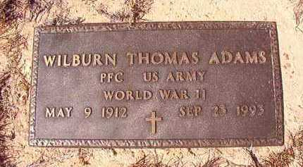ADAMS (VETERAN WWII), WILBURN THOMAS - Nevada County, Arkansas | WILBURN THOMAS ADAMS (VETERAN WWII) - Arkansas Gravestone Photos