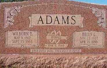 ADAMS, WILBURN T - Nevada County, Arkansas | WILBURN T ADAMS - Arkansas Gravestone Photos