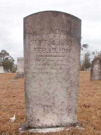 ADAMS, W T - Nevada County, Arkansas | W T ADAMS - Arkansas Gravestone Photos