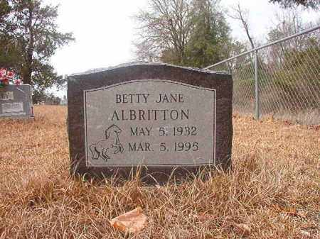 ALBRITTON, BETTY JANE - Nevada County, Arkansas | BETTY JANE ALBRITTON - Arkansas Gravestone Photos