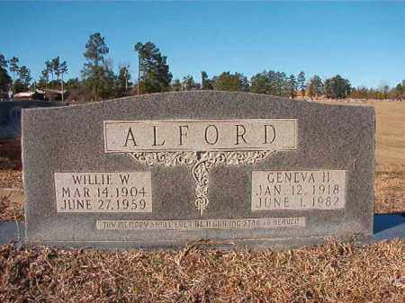 ALFORD, WILLIE W - Nevada County, Arkansas | WILLIE W ALFORD - Arkansas Gravestone Photos