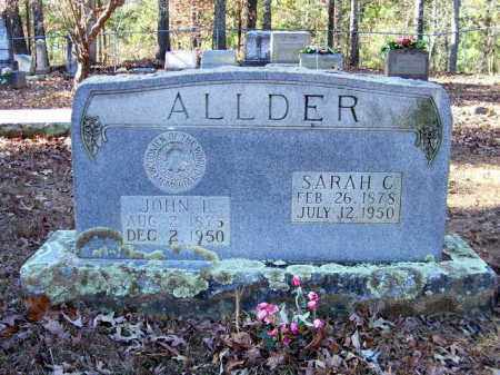 ALLDER, SARAH C. - Nevada County, Arkansas | SARAH C. ALLDER - Arkansas Gravestone Photos