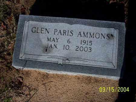 AMMONS, GLEN PARIS - Nevada County, Arkansas | GLEN PARIS AMMONS - Arkansas Gravestone Photos