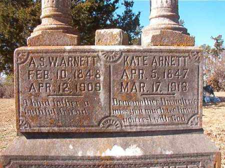 ARNETT, A S W  (CLOSEUP) - Nevada County, Arkansas | A S W  (CLOSEUP) ARNETT - Arkansas Gravestone Photos