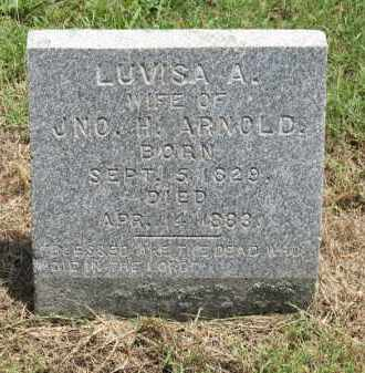 ARNOLD, LUVISA A. - Nevada County, Arkansas | LUVISA A. ARNOLD - Arkansas Gravestone Photos