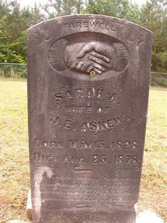 ASKEW, SARAH A - Nevada County, Arkansas | SARAH A ASKEW - Arkansas Gravestone Photos