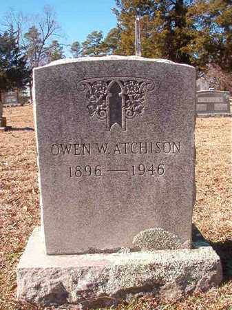 ATCHISON, OWEN W - Nevada County, Arkansas | OWEN W ATCHISON - Arkansas Gravestone Photos