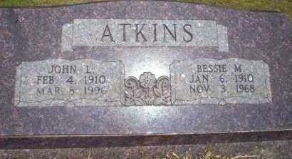 ATKINS, JOHN L - Nevada County, Arkansas | JOHN L ATKINS - Arkansas Gravestone Photos